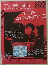 TV SMITH & The Bored Teenagers play THE ADVERTS Official UK GIG POSTER Promo