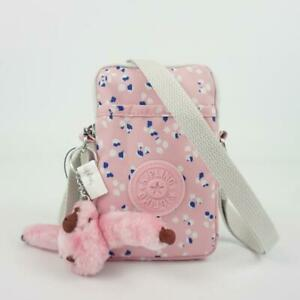 KIPLING TALLY Phone Travel Mini Crossbody Bag Painterly Dots Pink