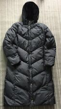 LANDS END WOMENS GOOSE DOWN FULL LENGTH HOODED PARKA LONG PUFFER COAT Large