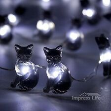 Black Cat Halloween Lights String By IMPRESS LIFE 10 ft Flexible Copper Wire 50