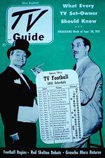 TV Guide 1951 Pre National Groucho Marx Red Skelton Howdy Doody Jack Benny VTG
