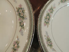 Noritake Bristol Pattern China service for eight (8) white w/pink green flowers
