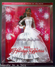 2008 Holiday Celebration Barbie Doll AA African American ~ DB ""