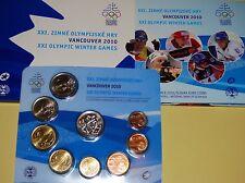 Slovakia Slowakei 2010 KMS Kursmünzensatz Official mint Set Olympia in Vancouver