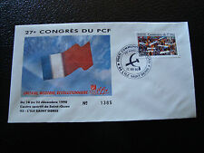 FRANCE - enveloppe 21/12/1990 27e congres du PCF (cy7) french (t)