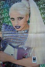 Lady Gaga     ~~~    1 Poster  +  1  STICKER / AUFKLEBER     ~~~~~~~~~~~