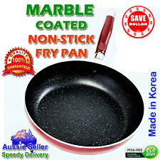 Lee Sense Non Stick Marble Stone Coated Frying Pan 18 - 36cm frypan KOREA