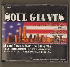 SOUL GIANTS CD 4 COMPACT DISC BOX SET 1998