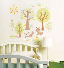 Woodland Animals Baby Deer Trees Murals Wall Stickers Decals Wallies Peel Stick