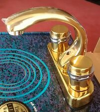 Bathroom Faucet Brass Construction Modern Two Tone