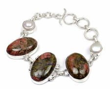 Spiritual Jewelry Unakite And River Pearl Handmade Bracelet 7'' To 9'' Dj232