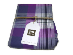 Pottery Barn PRESCOTT PLAID Duvet/Comforter Cover Twin/Twin XL Navy/Purple Nip