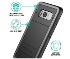 Samsung Galaxy S8 Plus Black Gray Rugged Protection Free Fast Shipping