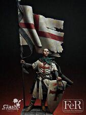 FeR Templar Templar Standard Bearer Crusader Knight 75mm Unpainted resinkit