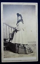 CDV- Beautifully Posed Image of Woman In Winter Clothing.