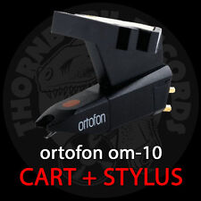 Ortofon OM-10 Turntable Cartridge with Elliptical Stylus + Mounting Screws