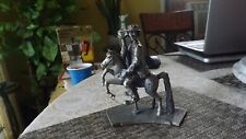 3#K Emmett Kelly Jr. The Carousel Rider Silver Plated & Crystal Collectible