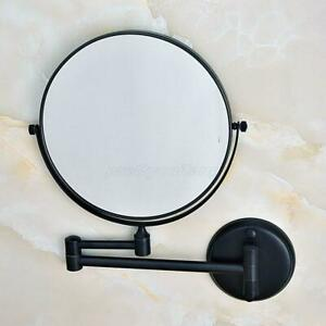 Oil Rubbed Bronze Double Side Folding Magnifying Makeup Wall Makeup Mirror