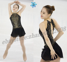 Ice skating dress.2018 Black Competition Figure Skating /Baton Twirling Costum