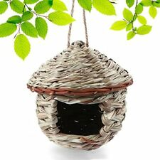 Bird House for Outside, Resting Place for Birds, Hanging Natural Grass Bird Nest