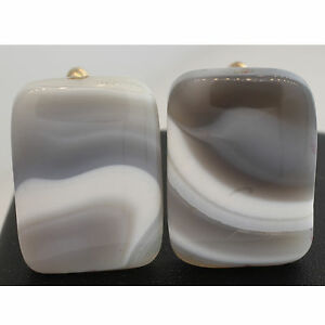 Cufflink FOR Men Natural Agate stone Cuff GIFT FOR MAN Sterling Silver 925