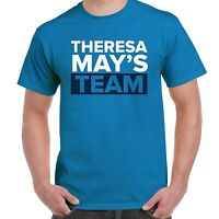 THERESA MAY'S TEAM T-SHIRT - CONSERVATIVE TORY GENERAL ELECTION UK BRITAIN