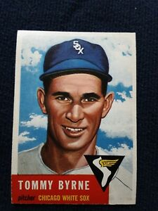 1953 TOPPS #123 TOMMY BYRNE CHICAGO WHITE SOX BASEBALL CARD ORIGINAL