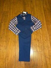Tommy Hilfiger Boys 4-Pc. Pants, Vest, Plaid Shirt & Bow Tie Set Size 7