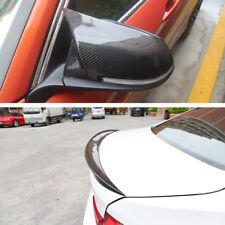 Carbon Fiber Mirror Cover & Rear Trunk Spoiler for BMW F30 320i 328i 330i 2012 +