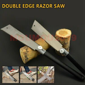 "9-1/2""Double Edge Razor Saw Japanese Ryoba Style Pull Saw 14 / 9 Teeth Saw Blade"