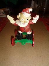 "E. Rosen Vintage Santa on Wheels Candy Holder 4.5"" Tall Rolls Well"