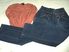Set Womens Italian Germaine de Capuccini Jeans Size 5 & Small Limited Sweater