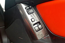 Unique Real Carbon Fiber Power Window Switches Panel Cover For Rhd Mazda Rx8 Jdm(Fits: Mazda Rx-8)