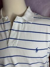 Polo Ralph Lauren Polo Shirt Men's Extra Large White Blue Pony Rugby Casual Men