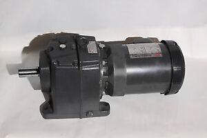 Browning Series 3000 In-Line Gear Motor  63:1  Foot Mount 3/4 HP 230/460