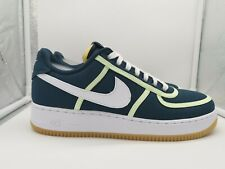 Nike Air Force 1 '07 Premium UK 9 Armory Navy White Barely Volt CI9349-400