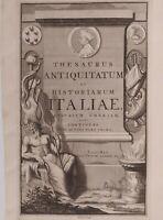 1723 Van der Aa Frontespizio con Dio del Fiume Arno Arnus Firenze Cosimo Medici
