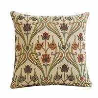 "Art Nouveau Deco Cushion. Mackintosh Style Tapestry. Double Sided. 17x17""."