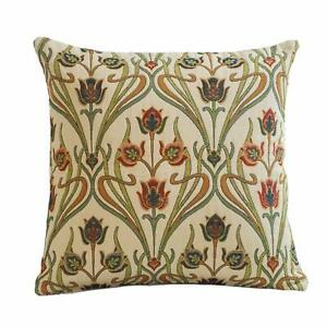 "Art Nouveau Deco Cushion. Mackintosh Style Tapestry. Double Sided. 17x17""."