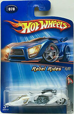 Hot Wheels 2005 Rebel Rides Series W-OOZIE Motorcycle (White) #078