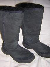 UGG * 5 * Black Ultimate Tall Braid Boots Sheepskin Lining 5340