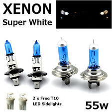 H1 H7 T10 55w SUPER WHITE XENON Upgrade Head light Bulbs Set Dip Main Beam C