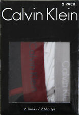 New Calvin Klein Mens 2 Trunks/2 Shortys in Black and white Colour Size M