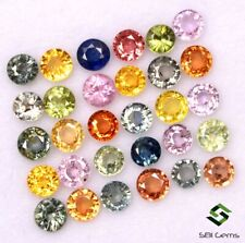 Natural Multi Sapphire Round Cut 3 mm Lot 29 Pcs Calibrated Gemstones 4.41 Cts