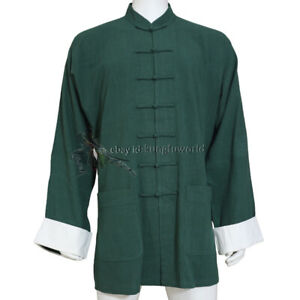 Thick Cotton Chinese Kung fu Jacket Tai Chi Top Wing Chun Tang Suit 10 Colors
