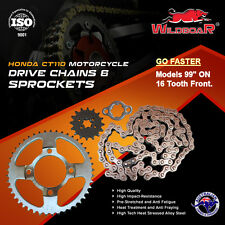 "HONDA CT110 CT 110 POSTIE BIKE MOTORCYCLE CHAIN SPROCKET KIT 16T 99"" ON -GO FAST"