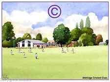 "ALDRIDGE CRICKET CLUB WEST MIDS WATERCOLOUR ARTISTS PRINT ART CARD 8""x 6"""