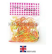 250 MINI ORANGE HAIR ELASTICS Rubber Bands Braids Braiding Plaits Small Bands UK