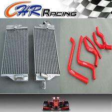 Aluminum radiator AND RED HOSE FOR Honda CR125 CR125R CR 125 02 2002