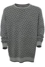 Kitaro Pullover Strickpullover Knit Pulli Herren Langarm Rundhals Plusgröße